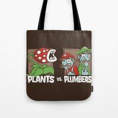 Plants Vs Plumbers  Tote Bag