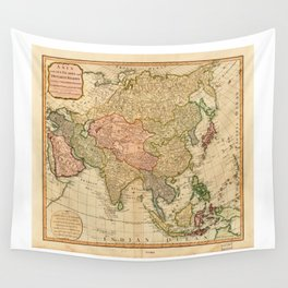 Map of Asia by Robert Laurie and James Whittle (1799) Wall Tapestry