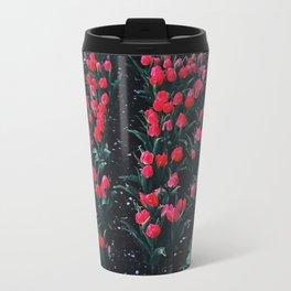 Sea of Tulips Metal Travel Mug
