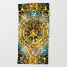 Sacred Geometry Fractal Mandala Beach Towel