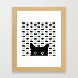 Crazy Cat Eyes Framed Art Print