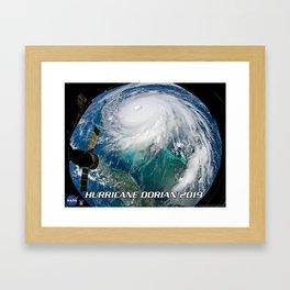Hurricane Dorian 2019 Framed Art Print