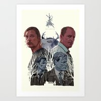 true detective Art Prints featuring True Detective by TidyDesigns