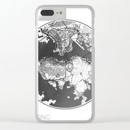 Hong Kong Map Universe Clear iPhone Case