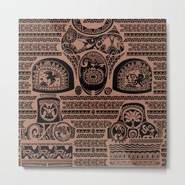Maui Tattoos Inspired Moana Metal Print
