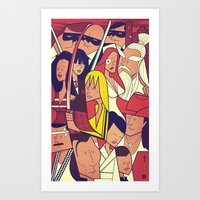 kill bill Art Prints featuring Kill Bill by Ale Giorgini