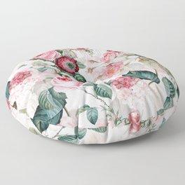Vintage & Shabby Chic - Summer Blush Roses Flower Garden Floor Pillow