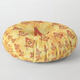 Freemason Symbolism Floor Pillow