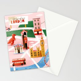 Map of London Stationery Cards