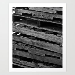 Abstract Wooden Pallets Art Print