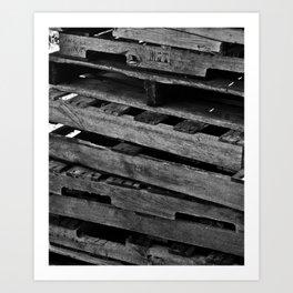 Abstract Wooden Pallets Art Print