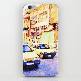 Aleppo: Taxi through the streets of Aleppo iPhone Skin