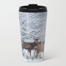Red deers  from wintry Killarney National Park Metal Travel Mug