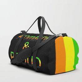 Aromantic and Proud (black bg) Duffle Bag