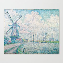 Paul Signac - Canal of Overschie Canvas Print