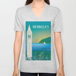 Berkeley, California - Skyline Illustration by Loose Petals Unisex V-Neck