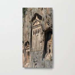 Lycian Tombs Cut From Rock Circa 400 BC Metal Print