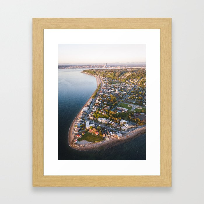 Alki Point Framed Art Print