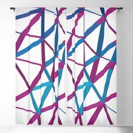 3D Futuristic GEO Lines Blackout Curtain