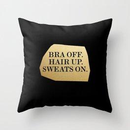 Bra Off Throw Pillow