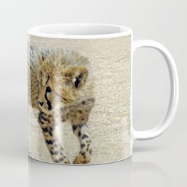 Baby cheetah learning to stalk Coffee Mug