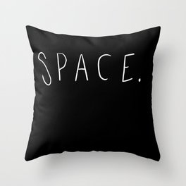 Space. Throw Pillow