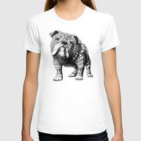 english bulldog T-shirts featuring English Bulldog by BIOWORKZ