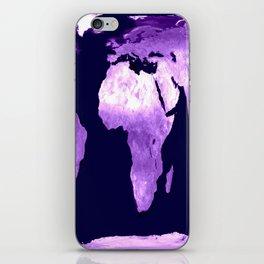 Purple World Map iPhone Skin