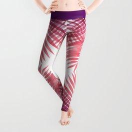 Purple Passion Palms Leggings
