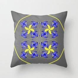 Circled flowers Throw Pillow