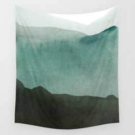 Valley's deep and the mountains so high Wall Tapestry