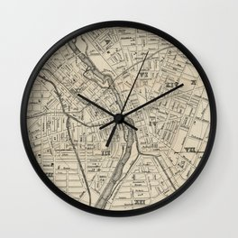 Vintage Map of Rochester NY (1872) Wall Clock