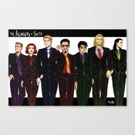 Suitvengers Canvas Print
