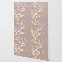 Kintsugi Ceramic Gold on Clay Pink Wallpaper