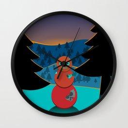 Robo' snowman Wall Clock