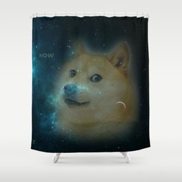 shibe doge in space Shower Curtain
