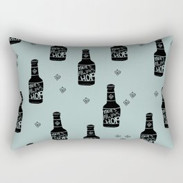 There's always hope beer bottle hop love ocean green Rectangular Pillow