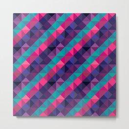 Triangle Polygon Geometric Striped Pattern Metal Print