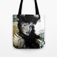 angel Tote Bags featuring Angel by Irmak Akcadogan