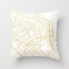 BUENOS AIRES ARGENTINA CITY STREET MAP ART Throw Pillow