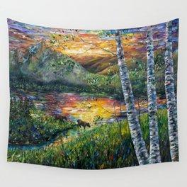 Sleeping Meadow (palette knife) Wall Tapestry