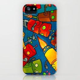 Robot - Robot Party 2 (Zero Gravity) iPhone Case