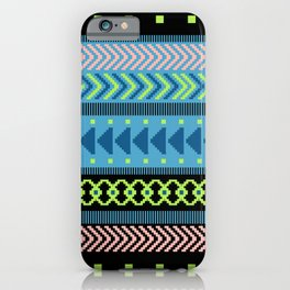 Together Again - tribal geometrics iPhone Case