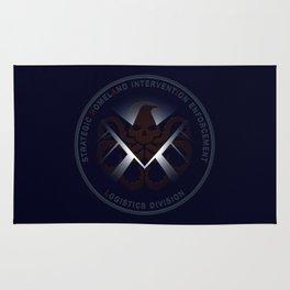 Hidden HYDRA - S.H.I.E.L.D. Logo with Wording Rug