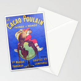 Chocolat, Vintage French Poster Stationery Cards