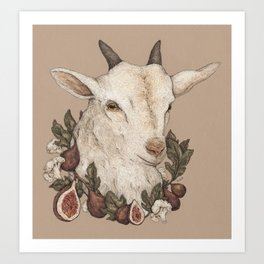 Goat and Figs Art Print