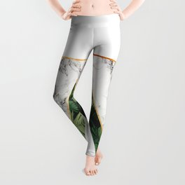 Geometric Tropical Marble Leggings