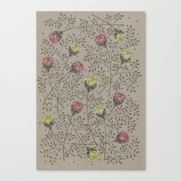 Vintage Surreal Florals Canvas Print