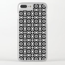 Black and white ornament Clear iPhone Case