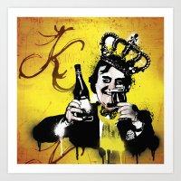 floyd Art Prints featuring King Floyd  by Paul Collis